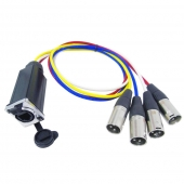 CABLE 4 XLR MALE - ETHERCON
