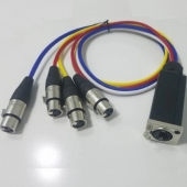 CABLE 4 XLR FEMELLE - ETHERCON